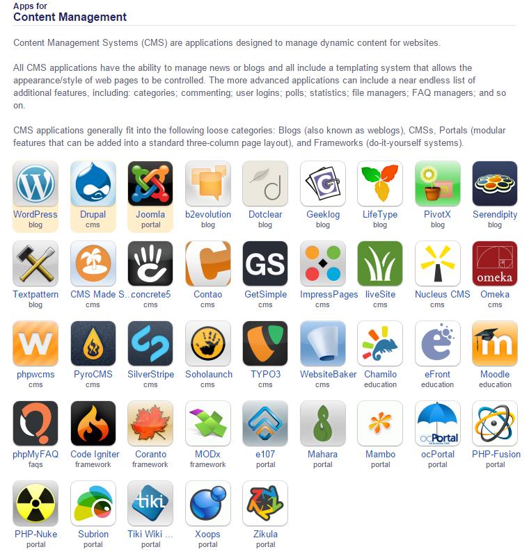 apps content management